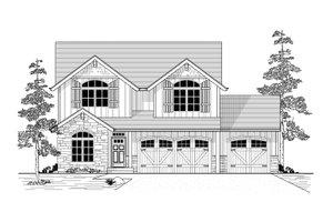 Craftsman Exterior - Front Elevation Plan #53-554