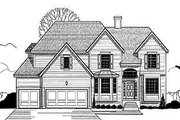 Traditional Style House Plan - 4 Beds 3.5 Baths 3209 Sq/Ft Plan #67-106 Exterior - Front Elevation