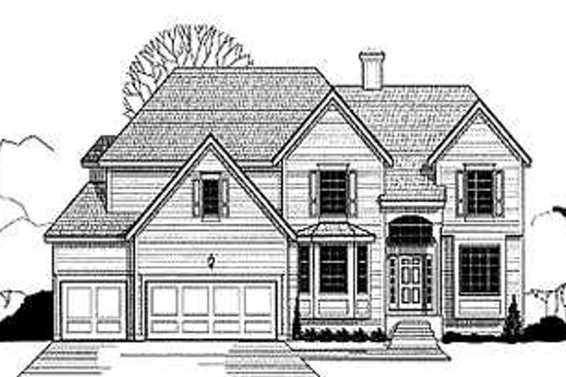 Traditional Style House Plan - 4 Beds 3.5 Baths 3209 Sq/Ft Plan #67-106