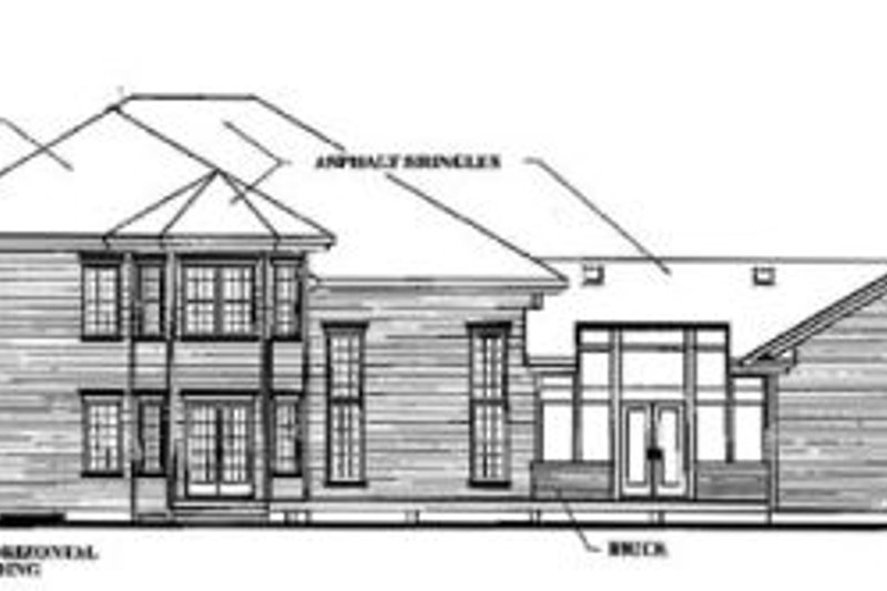 Traditional Exterior - Rear Elevation Plan #23-2005 - Houseplans.com