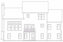 Craftsman Exterior - Rear Elevation Plan #419-188