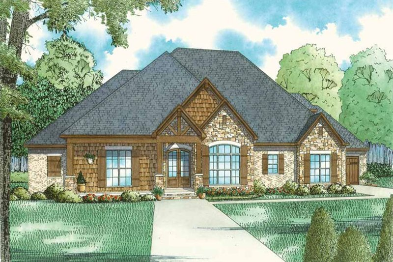 Dream House Plan - Country Exterior - Front Elevation Plan #17-2608