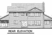 House Blueprint - Country Exterior - Rear Elevation Plan #18-201