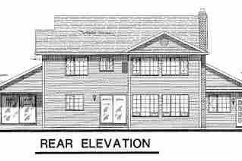 Country Exterior - Rear Elevation Plan #18-201 - Houseplans.com