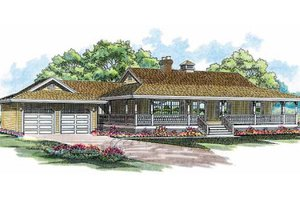 Country Exterior - Front Elevation Plan #47-186