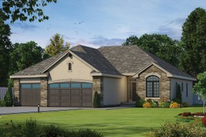 Architectural House Design - Ranch Exterior - Front Elevation Plan #20-1869