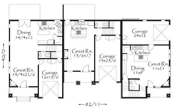 Craftsman Floor Plan - Main Floor Plan Plan #509-20