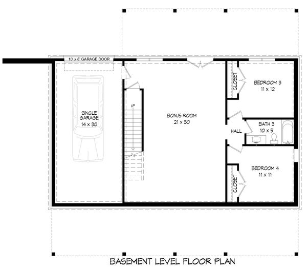 Country Floor Plan - Lower Floor Plan #932-310