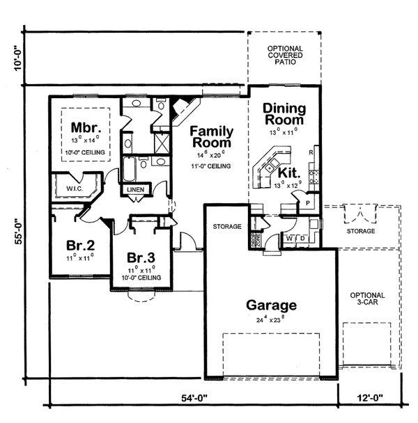 European Floor Plan - Main Floor Plan Plan #20-2072