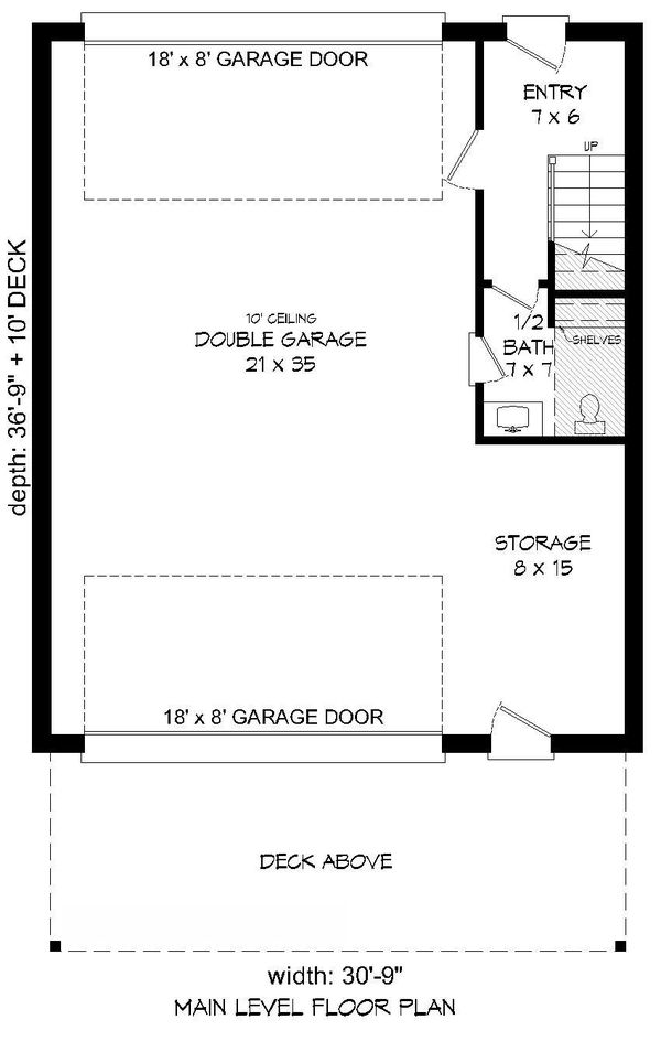 Contemporary Floor Plan - Main Floor Plan Plan #932-300
