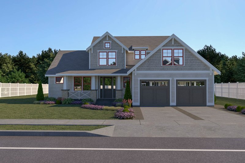 Craftsman Style House Plan - 3 Beds 2.5 Baths 2260 Sq/Ft Plan #1070-70 Exterior - Front Elevation