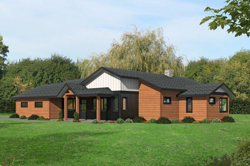 Dream House Plan - Modern Exterior - Front Elevation Plan #117-908
