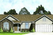 Home Plan - Ranch Exterior - Front Elevation Plan #58-161