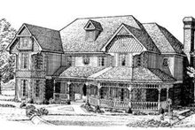 Victorian Exterior - Front Elevation Plan #410-262