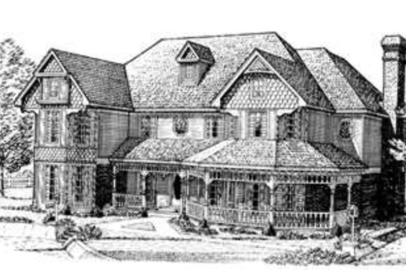 Victorian Exterior - Front Elevation Plan #410-262