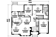 European Style House Plan - 2 Beds 2 Baths 1856 Sq/Ft Plan #25-4617 Floor Plan - Main Floor