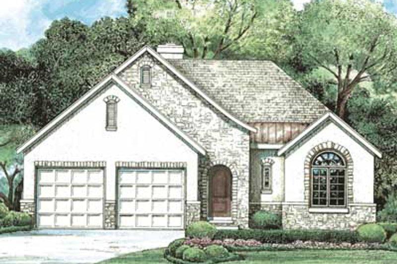 Dream House Plan - European Exterior - Front Elevation Plan #20-1401