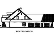 European Style House Plan - 4 Beds 3.5 Baths 2788 Sq/Ft Plan #17-209 Exterior - Other Elevation