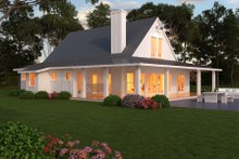 Dream House Plan - Farmhouse Exterior - Outdoor Living Plan #888-13