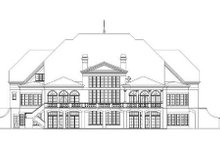 Classical Exterior - Rear Elevation Plan #119-321