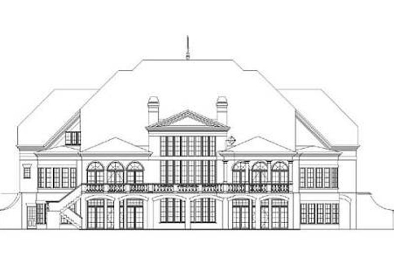 Classical Exterior - Rear Elevation Plan #119-321 - Houseplans.com