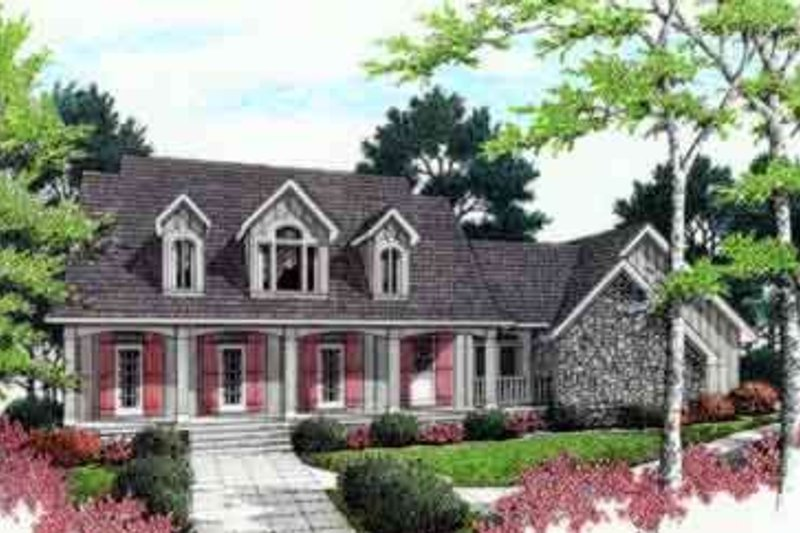 Mediterranean Exterior - Front Elevation Plan #45-243