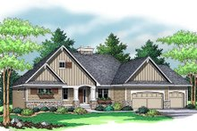 Craftsman Exterior - Front Elevation Plan #51-353