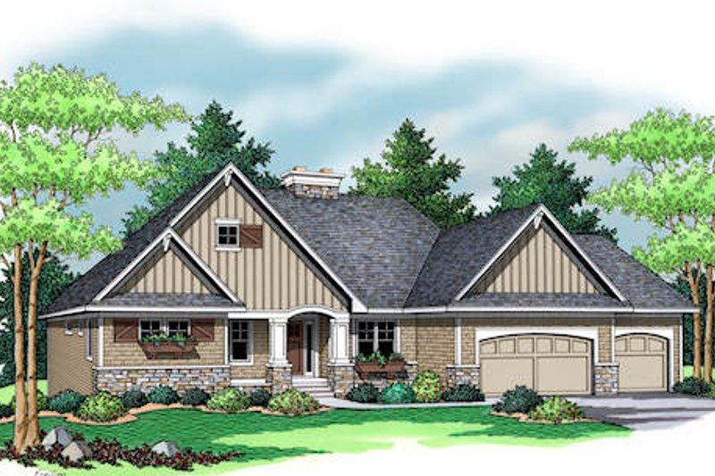 Craftsman Exterior - Front Elevation Plan #51-353