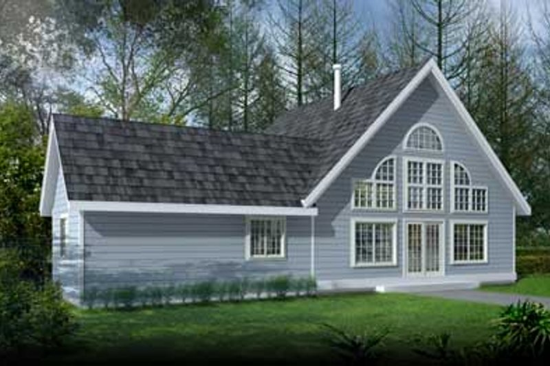 Exterior - Front Elevation Plan #100-221