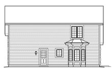 Home Plan Design - Cottage Exterior - Rear Elevation Plan #57-390