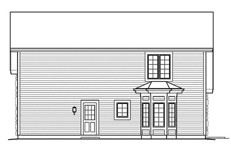 Cottage Exterior - Rear Elevation Plan #57-390 - Houseplans.com
