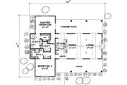 Country Style House Plan - 2 Beds 2 Baths 1588 Sq/Ft Plan #472-11 Floor Plan - Main Floor