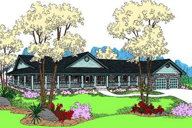 Country Exterior - Front Elevation Plan #60-653 - Houseplans.com