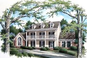 Colonial Style House Plan - 4 Beds 3 Baths 2932 Sq/Ft Plan #45-332 Exterior - Front Elevation