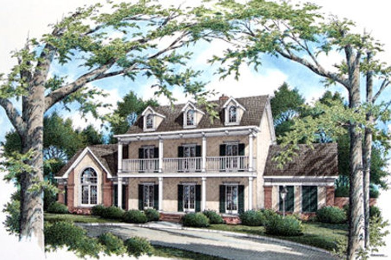 Colonial Exterior - Front Elevation Plan #45-332