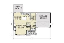 Farmhouse Floor Plan - Main Floor Plan Plan #1070-1