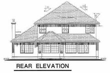 House Blueprint - European Exterior - Rear Elevation Plan #18-244