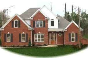 Colonial Exterior - Front Elevation Plan #81-538