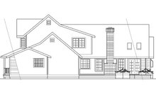 Country Exterior - Rear Elevation Plan #124-173