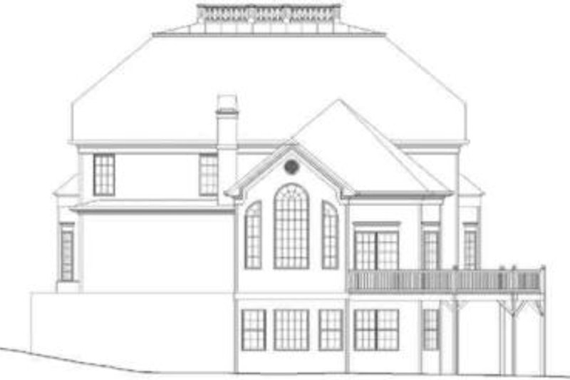 European Exterior - Rear Elevation Plan #119-134 - Houseplans.com
