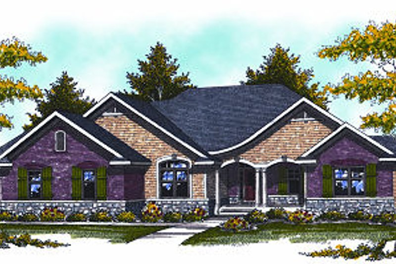 Craftsman Exterior - Front Elevation Plan #70-873