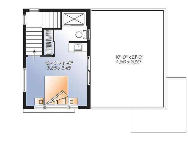 Contemporary Floor Plan - Upper Floor Plan Plan #23-2297