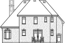 Home Plan - Traditional Exterior - Rear Elevation Plan #23-802