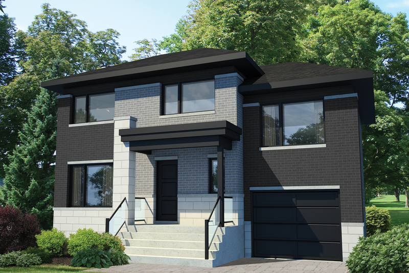 Contemporary Style House Plan - 3 Beds 1 Baths 1501 Sq/Ft Plan #25-4351 Exterior - Front Elevation
