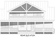 Country Style House Plan - 3 Beds 2.5 Baths 2100 Sq/Ft Plan #932-359 Exterior - Rear Elevation