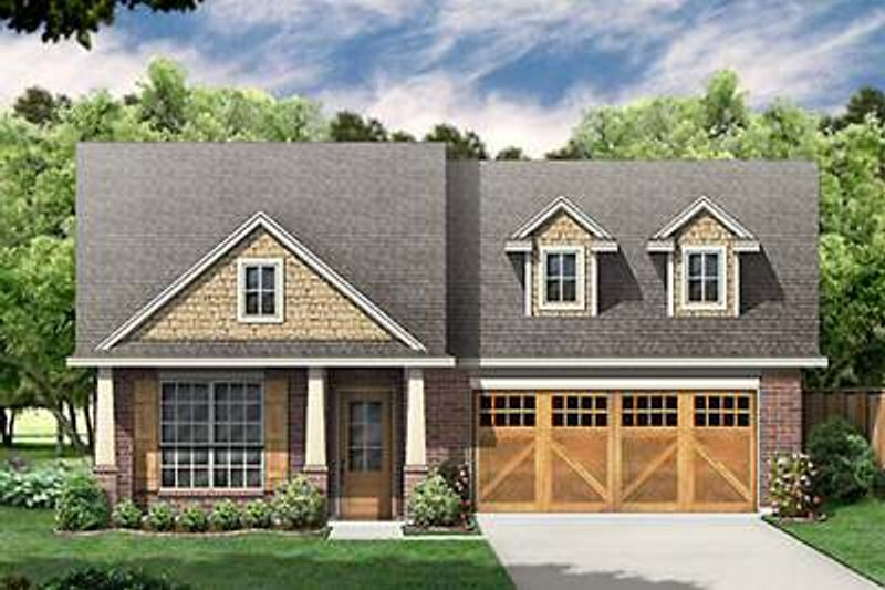Dream House Plan - Craftsman Exterior - Front Elevation Plan #84-266