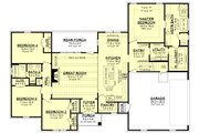 Traditional Style House Plan - 4 Beds 2 Baths 2095 Sq/Ft Plan #430-228 Floor Plan - Main Floor