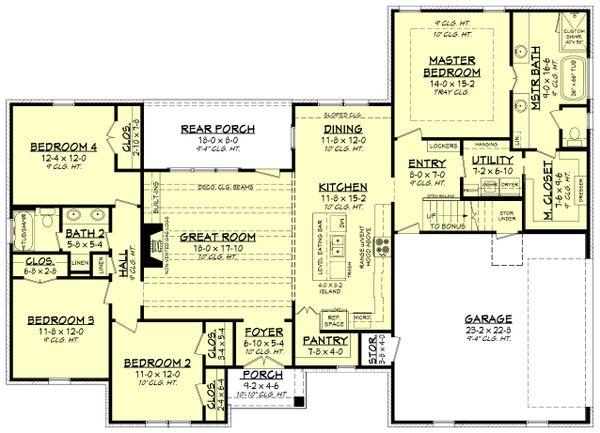 Dream House Plan - Traditional Floor Plan - Main Floor Plan #430-228