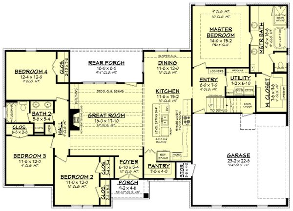Architectural House Design - Traditional Floor Plan - Main Floor Plan #430-228
