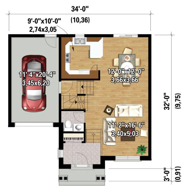 Traditional Floor Plan - Main Floor Plan Plan #25-4423
